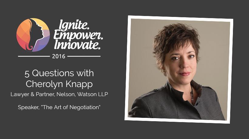 Cherolyn Knapp on The Art of Negotiation