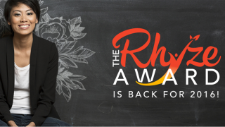 The Rhyze Award 2016 logo