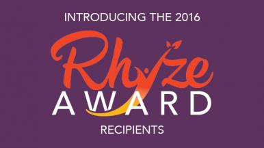 Introducing the 2016 Rhyze Award Recipients