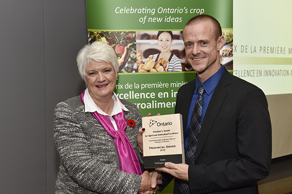 katan kitchens founder jamie draves with Liz Sandals, MPP Guelph