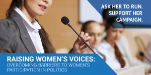 Info Session-Ask a female politician