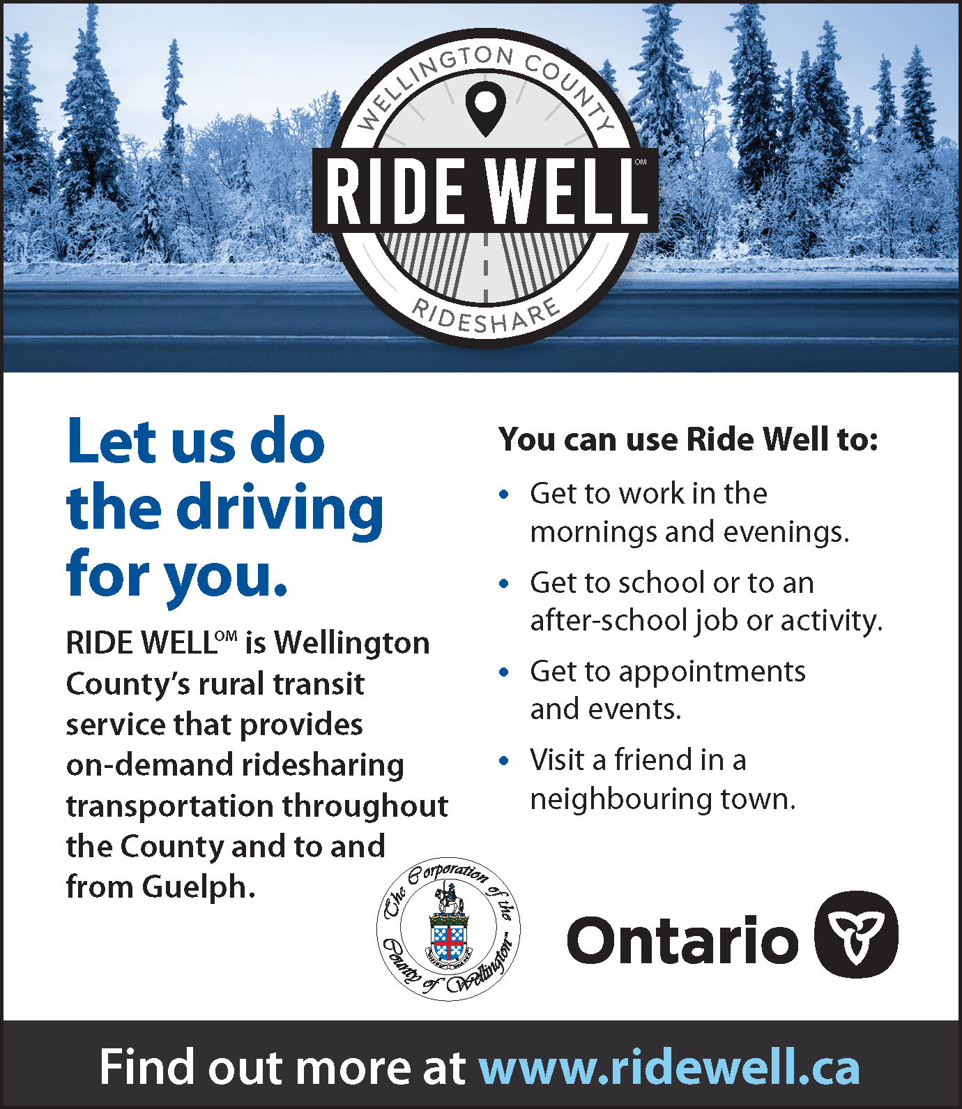 Ride Well Wellington county Rideshare