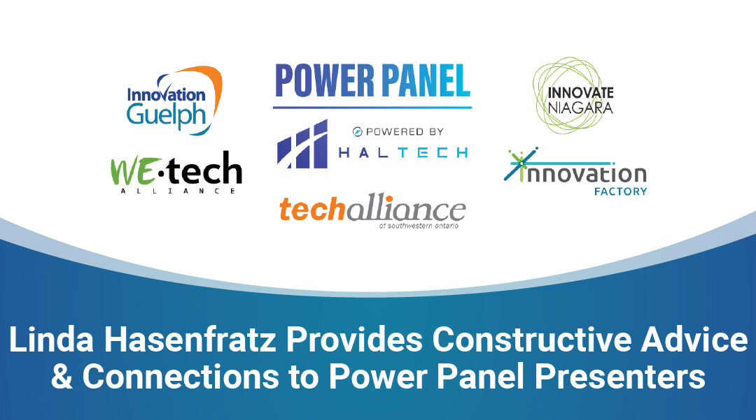 Linda Hasenfratz Provides Constructive Advice & Connections to Power Panel Presenters